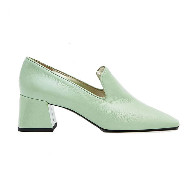 33e9ad9e74de Suzanne Rae Heeled Smoking Loafer  Never have I ever wanted a pair of mint  green shoes as much as I want these loafers. The color exudes playful  vibes