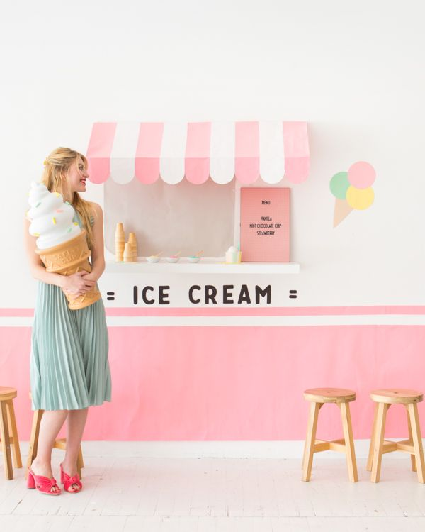 Ice cream truck wall oh happy day bloglovin its such a modern interactive way to host an ice cream social and who wouldnt want to take have their photo taken ordering at the window ccuart Gallery