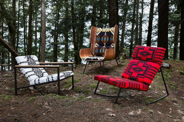 gus modern x pendleton woolen mills collaborate on chair collection