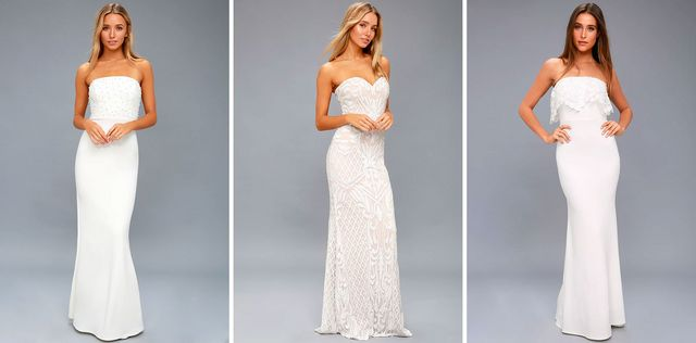 97bd5ee22c41 We are also obsessed with the effortless Crazy About You White Backless Lace  Maxi Dress. The combination of the open back along with a mock neck and cap  ...