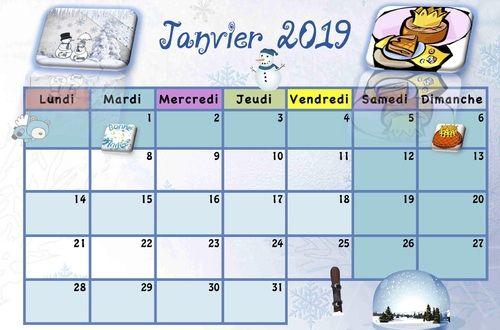 Calendriers enfants 2018/2019 | La classe de Luccia ...