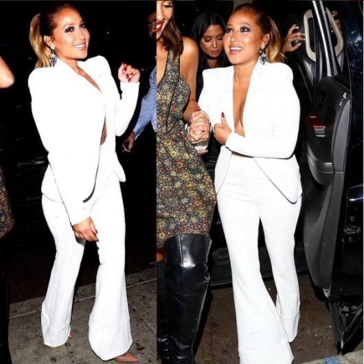 b9b3991d7726 Fashion Bomb regular Adrienne Bailon stepped out to celebrate The Real  being picked up for two more seasons! She loves to mix it up and gave us  separates ...
