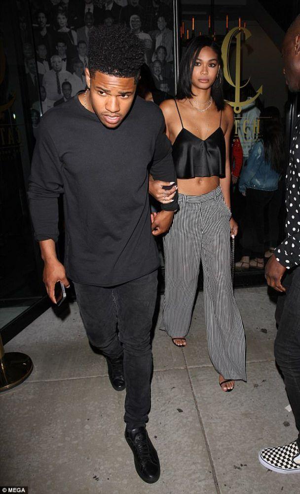 2fc7befd067 Splurge  Chanel Iman s Catch LA Brandon Maxwell Satin Crop Camisole ...