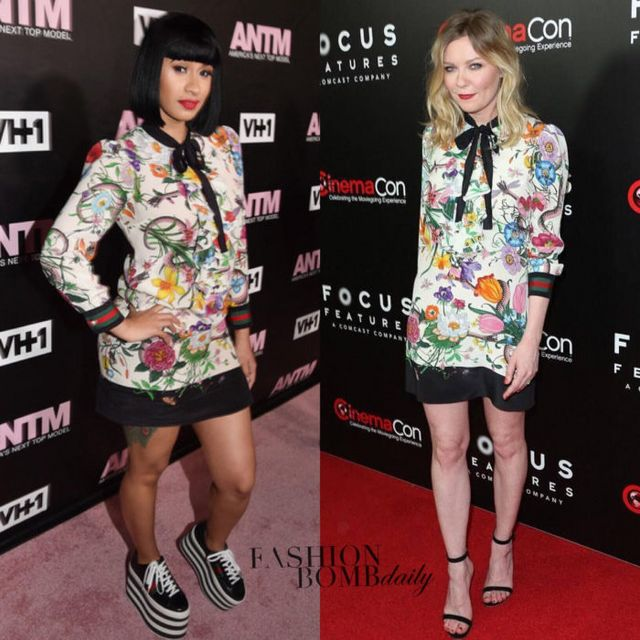 27b18d6645d Cardi B vs Kirsten Dunst in Gucci's Floral Snake Print Dress appeared first  on Fashion Bomb Daily Style Magazine: Celebrity Fashion, Fashion News, ...