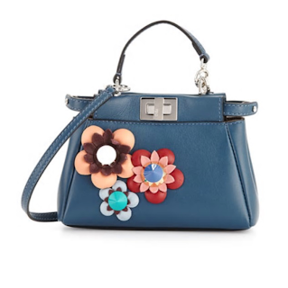 24d31f20e669 Bomb Product of The Day  Shop Closet Vogue s Fendi Peekaboo Micro Flower  Satchel Bag
