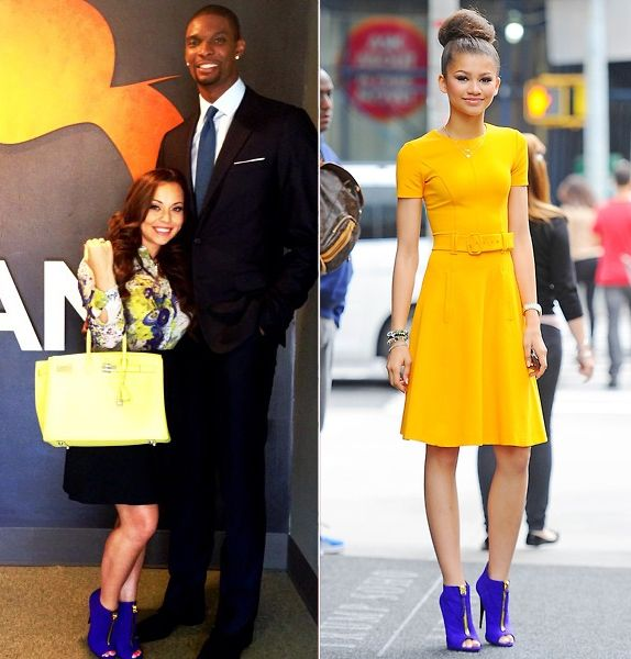 02535a3b472 Who Wore it Better  Adrienne Bosh vs. Zendaya Coleman in Giuseppe ...