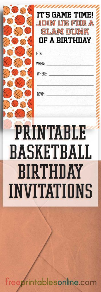 The Post Free Printable Basketball Birthday Party Invitations Appeared First On Printables Online
