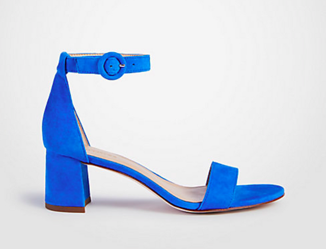 6bdaabf6bcb I have these Suede Block Heeled Sandals in every color except this blue  color but I think I might have to order them too. They are insanely  comfortable ...