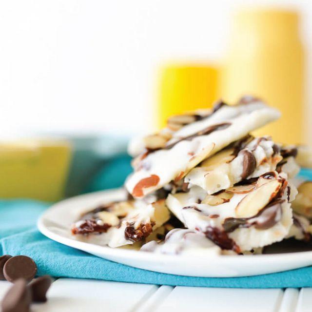 Chocolate Cherry Frozen Yogurt Bark | Hey, Let's Make ...