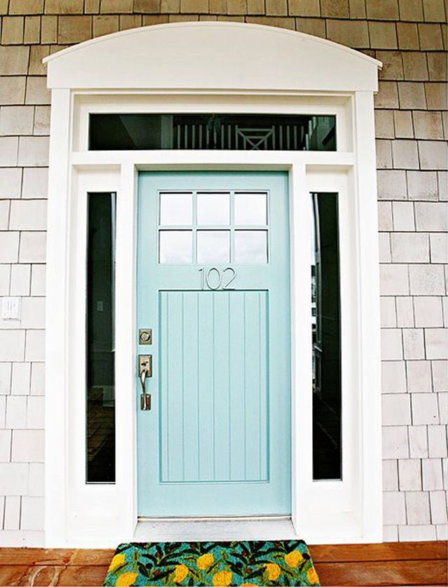 Turquoise and blue front doors with paint colors for Benjamin moore turquoise colors