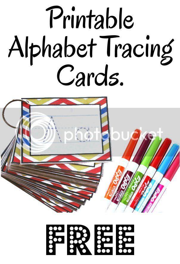 Alphabet Tracing Cards -Free Printable- | See Jamie Teach ...
