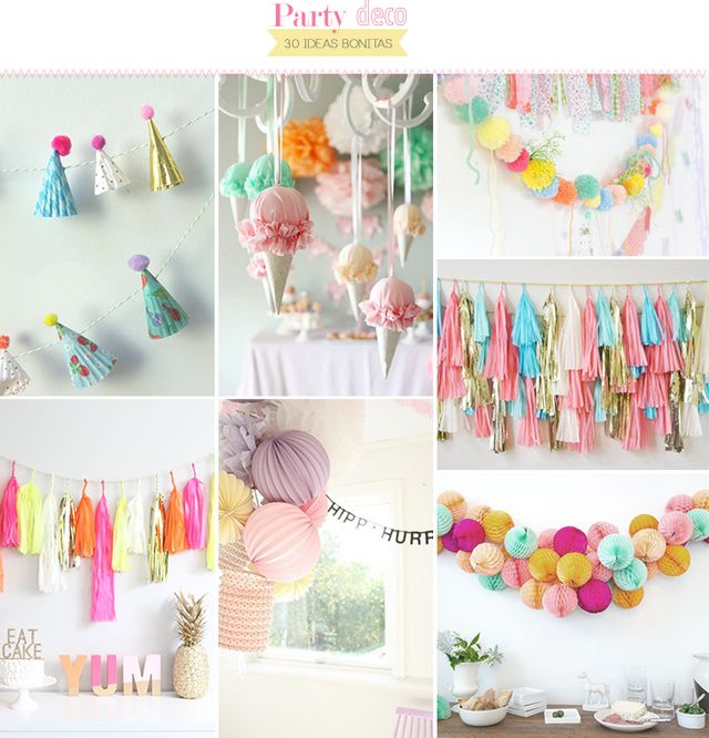 30 ideas para decorar una fiesta | Aubrey and Me | Bloglovin\'