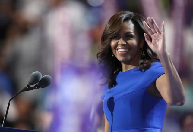 Azul ObamaSu Recordará El Mundo Este De Todo Vestido Michelle mNw8vO0n