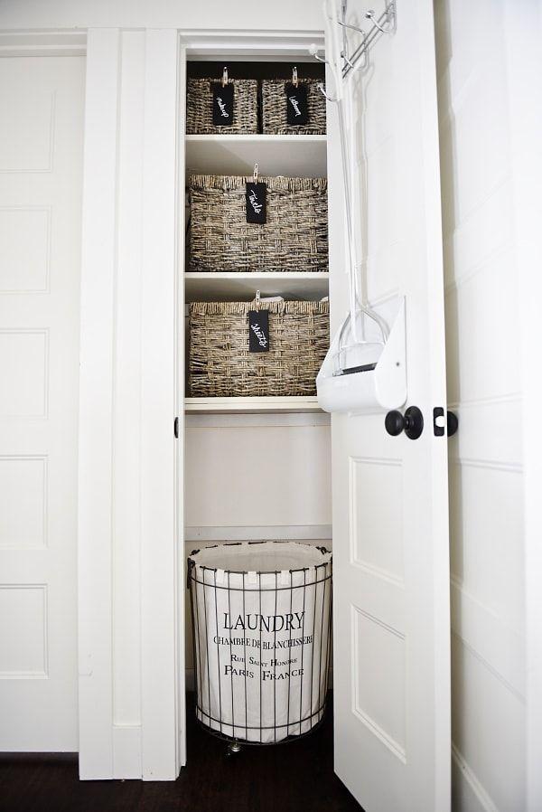 Linen Closet Organization Before & After