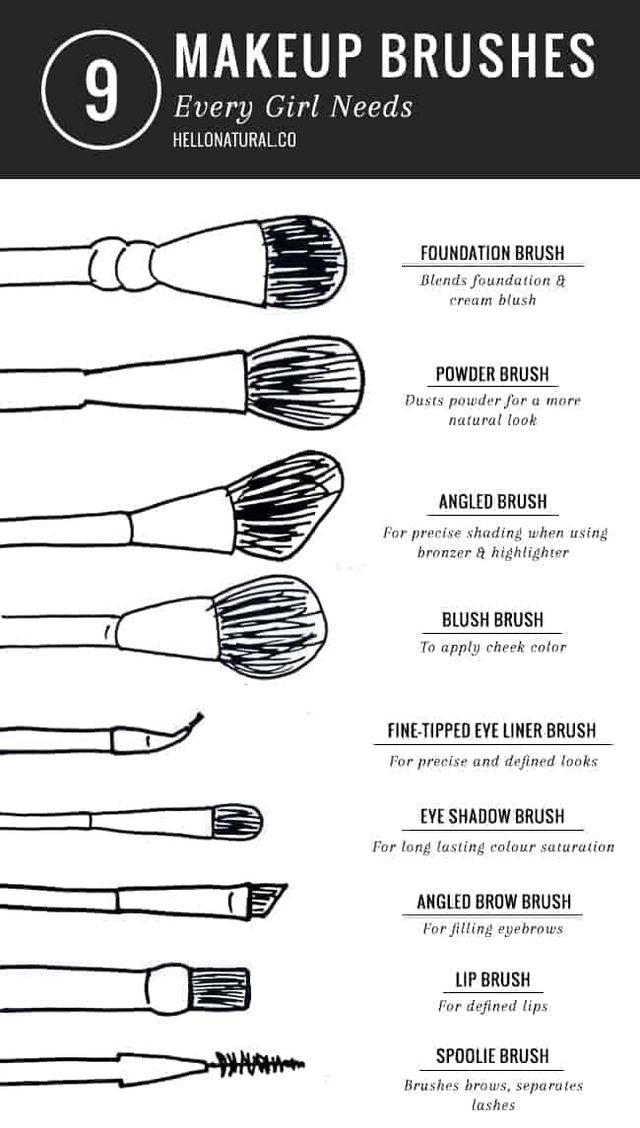 Makeup Brushes Names And Uses
