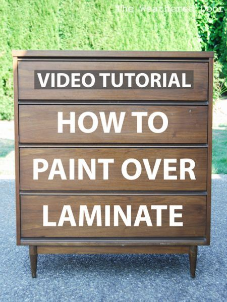 video how to paint over laminate and plastic the weathered door. Black Bedroom Furniture Sets. Home Design Ideas