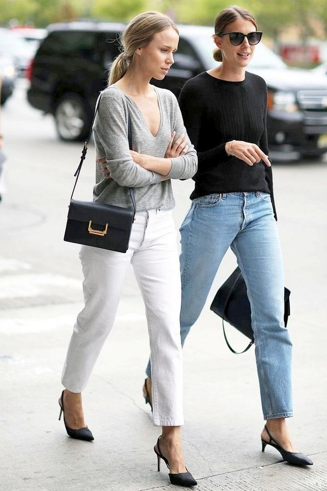 Street Style Elin Kling And A Friend Go Casual Chic In