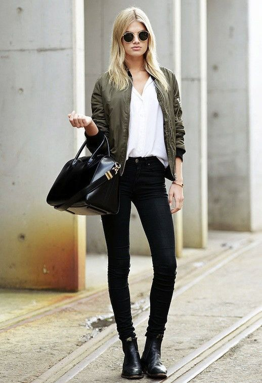 Model Off Duty Megan Irwin Is Downtown Cool In A Bomber Jacket Images, Photos, Reviews