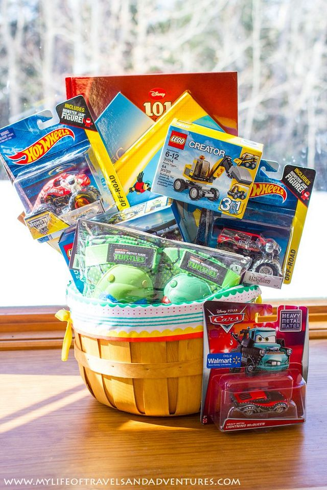 My 3 year old boys easter basket with no candy my life of to see our easter baskets of years past 1 year old boy easter basket and 2 year old boy easter basket negle Gallery