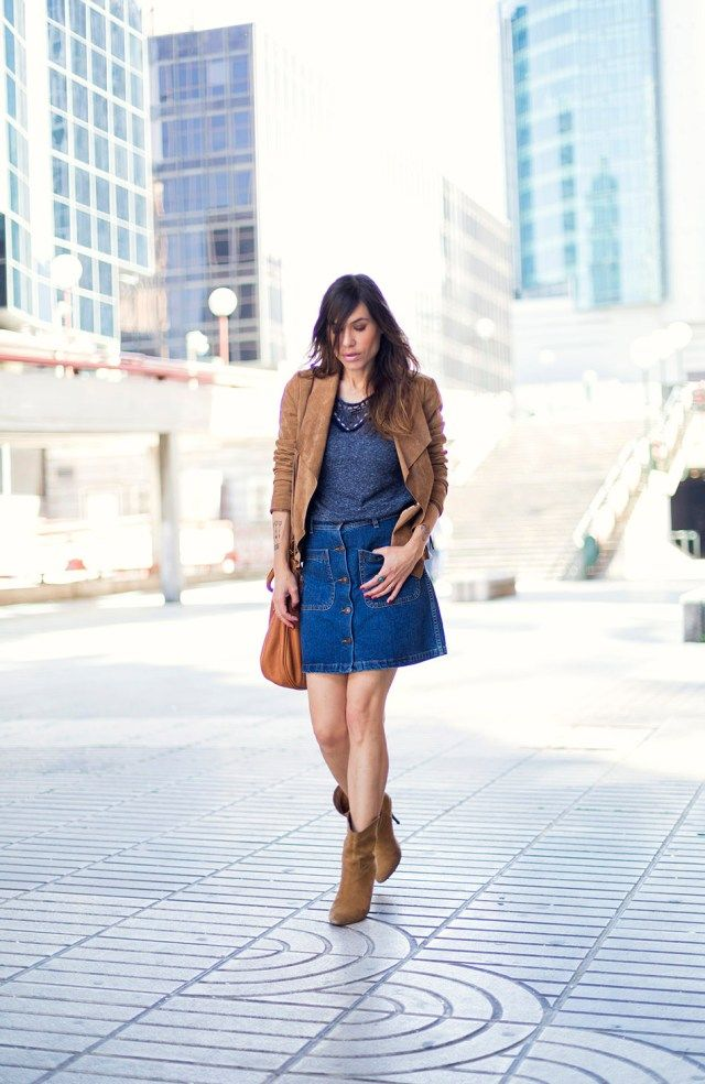 2f4bc1c9e DENIM BUTTON SKIRT | bárbara crespo | Bloglovin'
