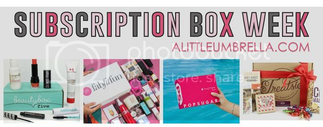 5e1011c586 It is Subscription Box Week here at Put a Little Umbrella in Your Drink! I  decided to have a whole week dedicated to reviewing my favorite  subscription ...