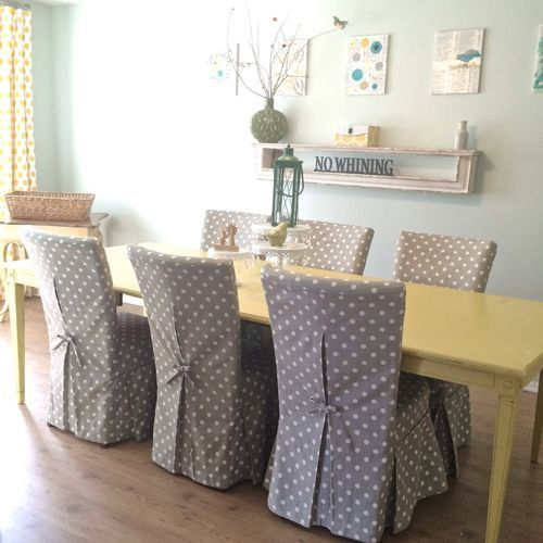 Dining Room Covers: New Parsons Chair Slipcovers For My Dining Room