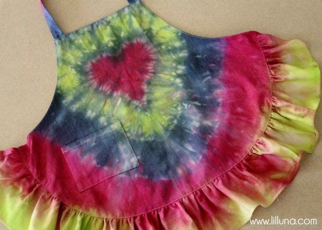 Car Seat Cover Tie Dye Kids Apron