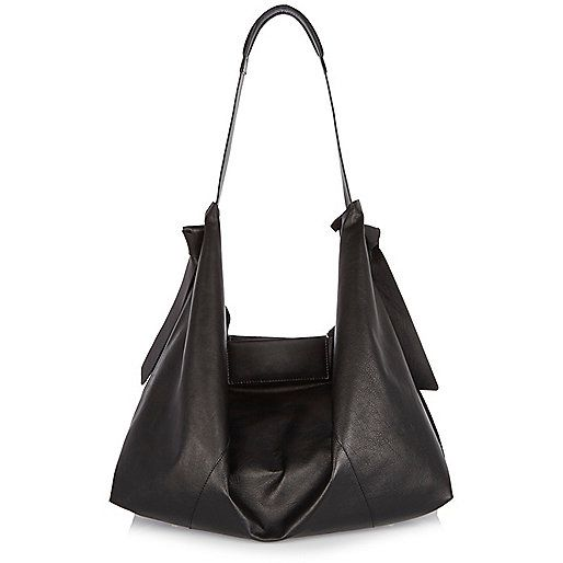 Black Large Suede leather slouchy handbag £65 from River Island. A clever  idea of both suede and leather. Plus an inner bag as well so it doesn t  become the ... e52e5618006ac