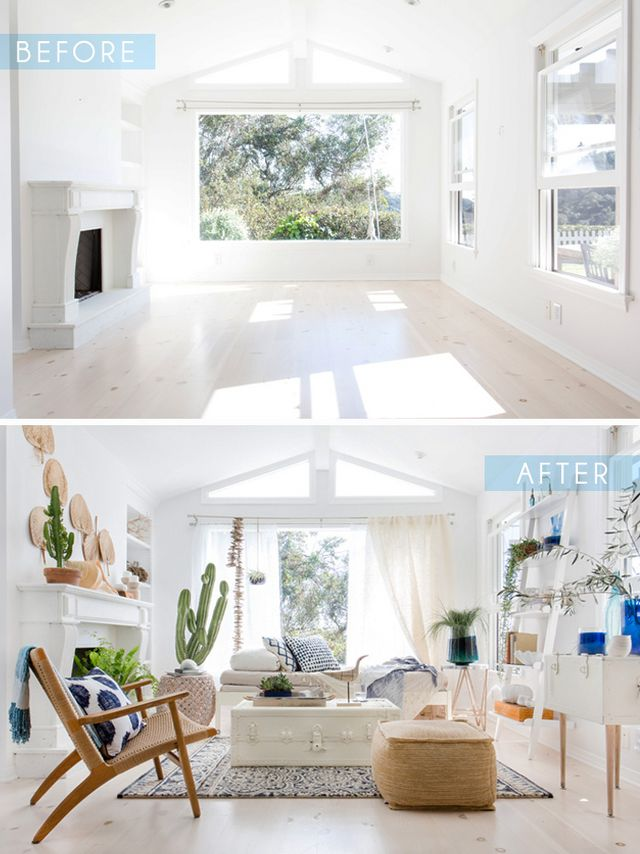 Blue and White Sunroom – with Target | Emily Henderson