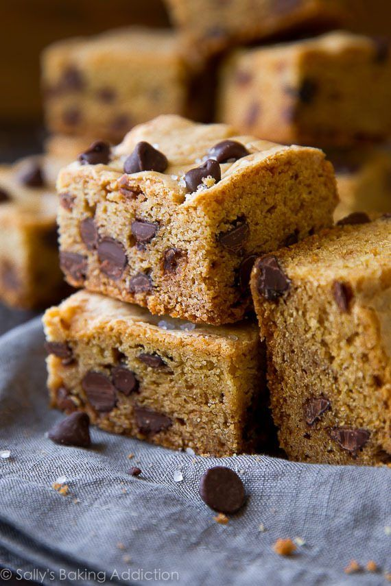 Soft & Chewy Chocolate Chip Cookie Bars. | Sally's Baking ...