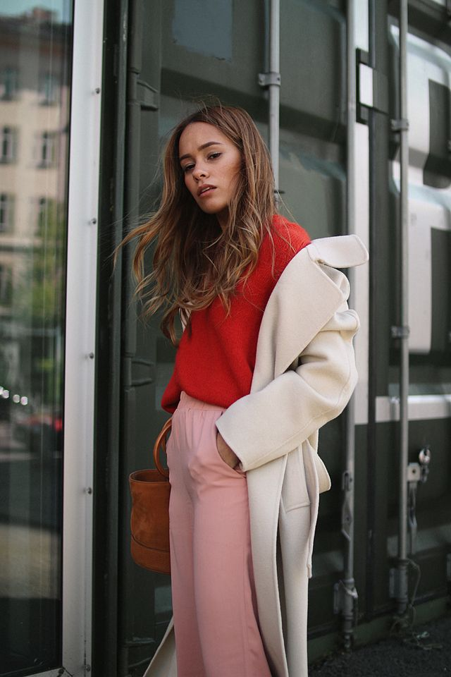 Outfit: Color blocking comeback with pink & red
