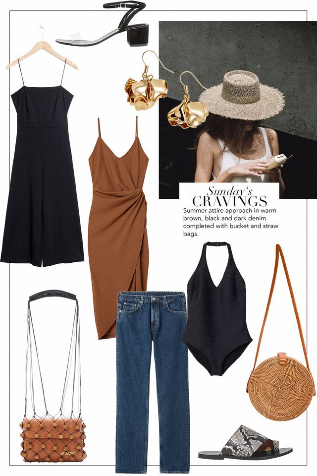 Sunday's Cravings: Warm Brown and Dark Denim