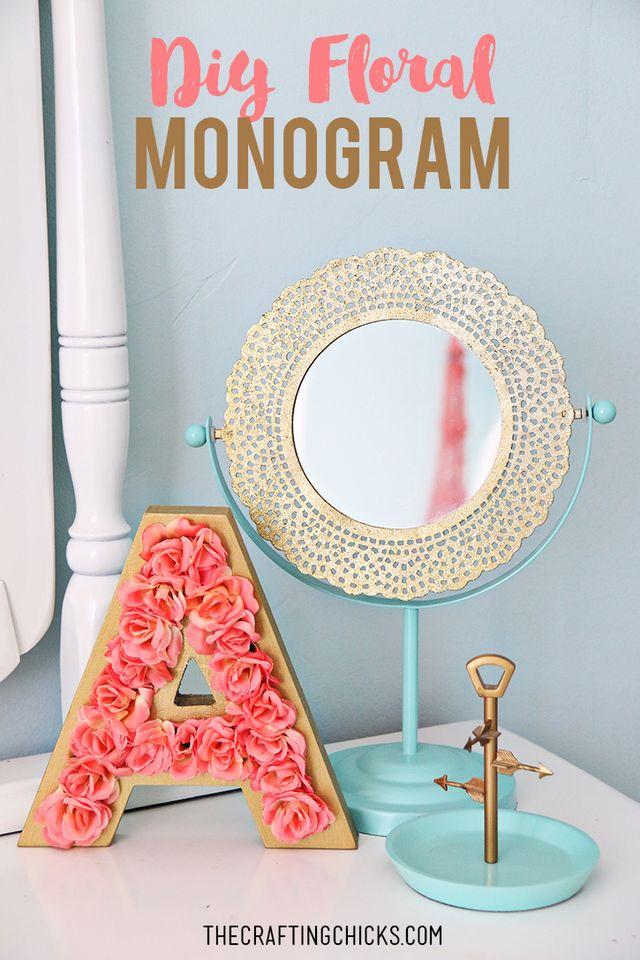 DIY Floral Monogram   The Crafting Chicks   Bloglovin\'