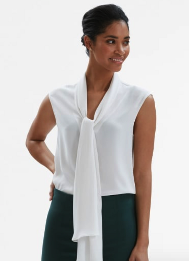The Beverly top is the perfect layering blouse. It comes in ivory, grey and pale mauve (the mauve is my favorite). The neckline looks great under a blazer, ...
