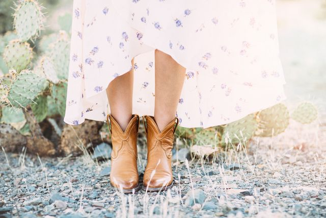00ae7247094 How to Wear Cowgirl Boots With a Dress | Dash of Darling | Bloglovin'