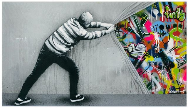 Stencil Art That Blends Graffiti And Decay By Martin Whatson - Clever free bird see graffiti spotted in chicago leads to a creative surprise