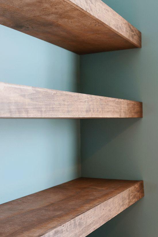 Diy Floating Wood Shelves Yellow Brick Home Bloglovin