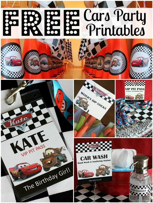 Free Cars Birthday Party Printables All Things G Amp D
