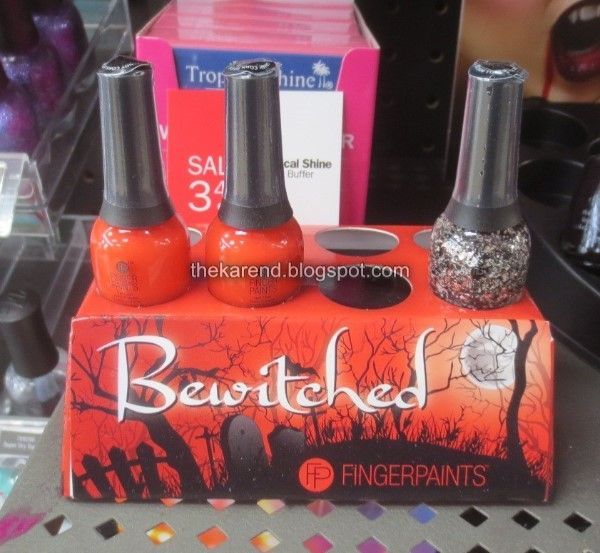 Some Walgreens got the Halloween collection of Incoco nail polish strips:  Witching Hour (orange/black), Ghoul Friends (skulls/flowers), Mischief  Makers ...