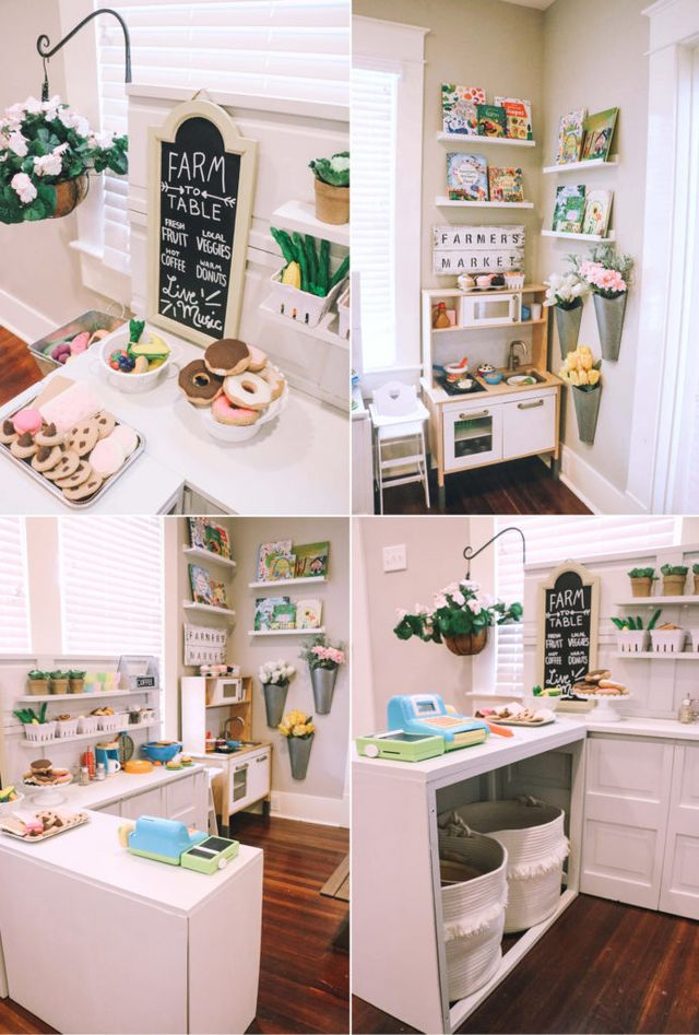 DIY Play Kitchen – Pretend Play Area | At Home With Natalie