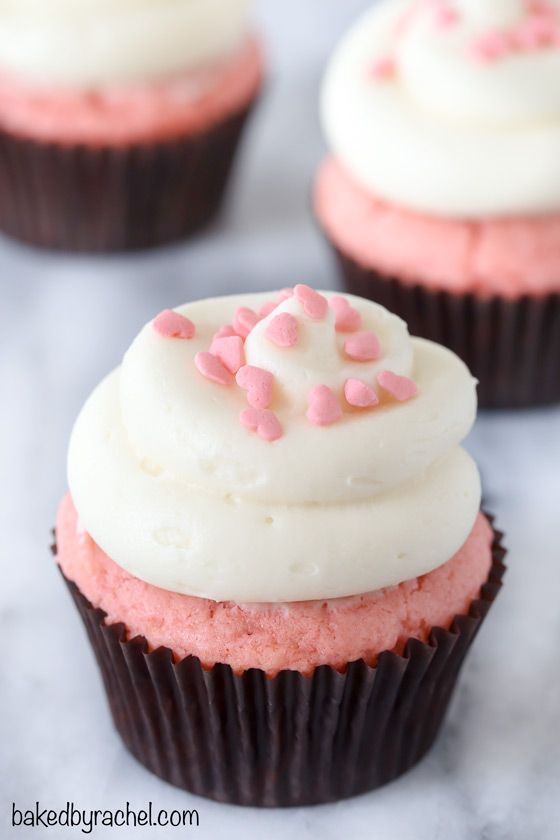 Pink Velvet Cupcakes with Cream Cheese Frosting | Baked by ...