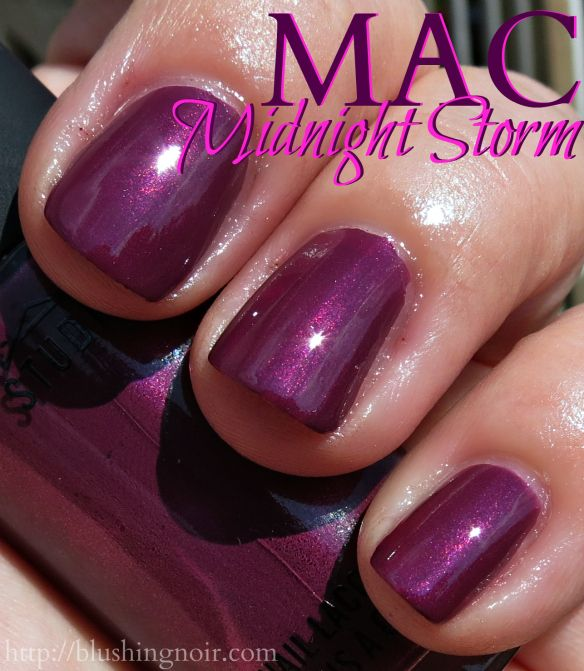 MAC A Novel Romance Nail Polish Swatches + Review   Blushing Noir ...