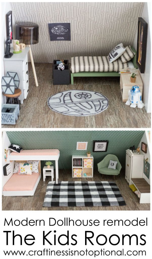 modern dollhouse: kids rooms | craftiness is not optional