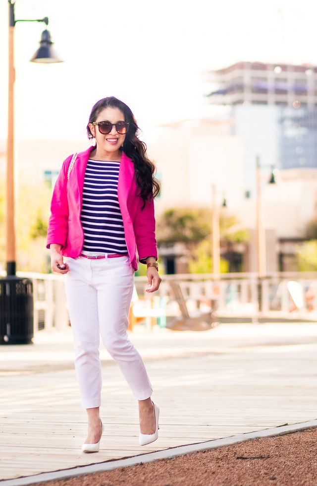 97be3f687 How To Style A Pink Blazer
