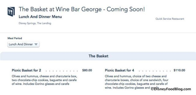 What's The Basket at Wine Bar George? Find Out… AND See the