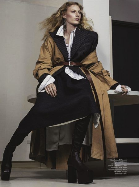 fb8a647fc71b Julia Nobis Suits Up in Menswear Styles for Vogue Australia ...
