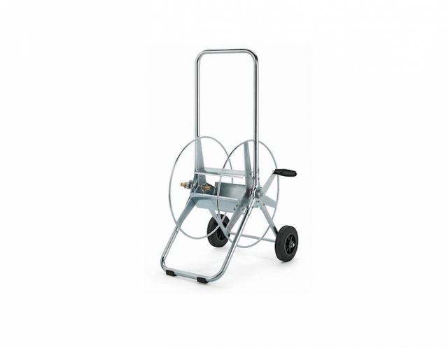fetching home depot garden hose reel. Above  For a portable version consider hose reel on wheels A Swiss made Small Steel Hose Trolley has steel frame rubber and comfortably 10 Easy Pieces Crank Reels Gardenista Sourcebook for