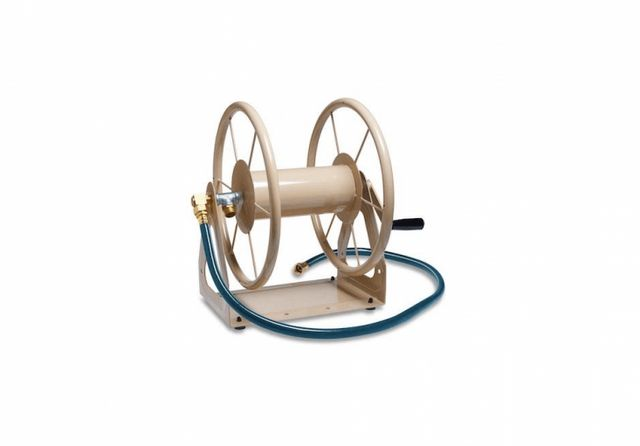 fetching home depot garden hose reel. Above  A similar version in powder coated steel a 3 1 Hose Reel capable of holding 200 feet hose is 69 99 from Home Depot 10 Easy Pieces Crank Reels Gardenista Sourcebook for