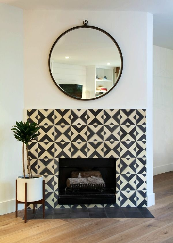 Ideas For Working Around An Angled Fireplace House