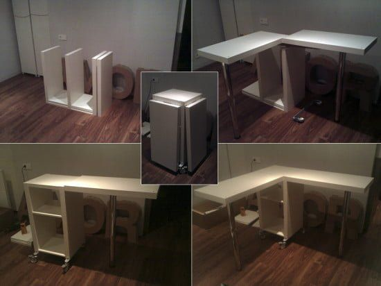 A Collapsible Expedit Desk For 2 People Ikea Hackers